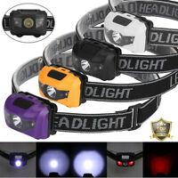 300LM R3 2LED Headlight Headlamp Flashlight 4 Mode Super Bright Torch Light Mini
