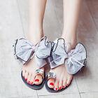Women's Summer Beach Rhinestone Slippers Flip Flops Outdoor Sandals Flat Shoes