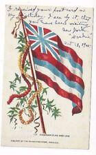 1905 Honolulu Hawaii to Boston Massachusetts, Hawaiian Flag