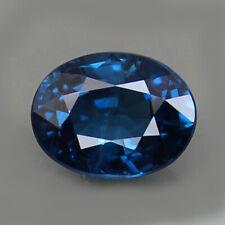 CERTIFIED 3.03ct. UNHEATED GEMSTONE BLUE SAPPHIRE OVAL SHAPE NATURAL GEMSTONE RA