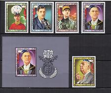 UM AL QIWAIN  années 70  5 timbres et 1 feuillet neufs Charles de Gaulle /T3830