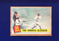 Babe Ruth Special HOF 1962 Topps Baseball #138 (VGEX) The Famous Slugger