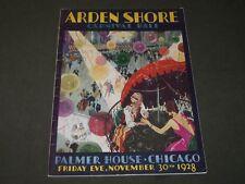 1928 Noviembre 30 Arden Shore Carnaval Bola Programa - Palmer Casa - J 3500