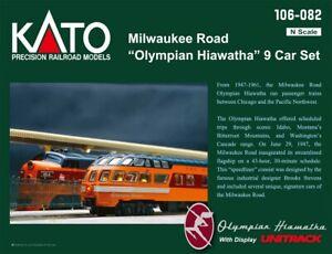NEW Kato Olympian Hiawatha 9-Car Passenger Set Milwaukee N Scale FREE US SHIP