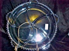 CANDLEWICK  ROUND RELISH,, 5 PART,,5 HANDLES, BY IMPERIAL GLASS CO STUNNING !!