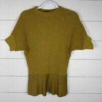 Etro Milano Womens Gold Size Medium (?) Batwing Crew Neck Knitted Sweater