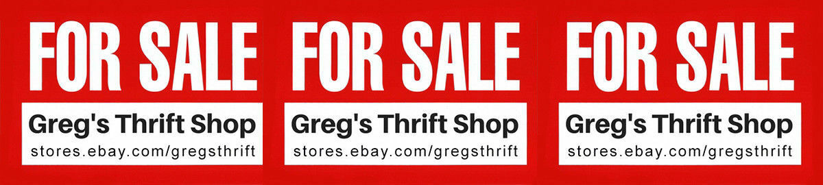 gregs thrift ebay stores