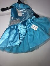 """Bootique Belle of The Ball Blue/ Silver Dog Halloween Costume- Small 13-15"""""""
