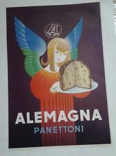 AFFICHE ORIGINALE ANCIENNE PUB  PANETTONI ALEMAGNA  ITALIE ITALIA L BERTAUX