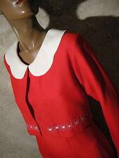 CHIC VINTAGE ROBE 1960 VTG DRESS 60s SIXTIES KLEID 60er ABITO RETRO (40)