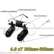 Denshine 6 X Dental Loupes  Medical Binocular Glasses Magnifier 300-500mm New