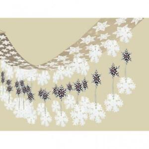 Let it Snow Snowflakes Christmas Ceiling Decoration - 3.65m x 30.5cm