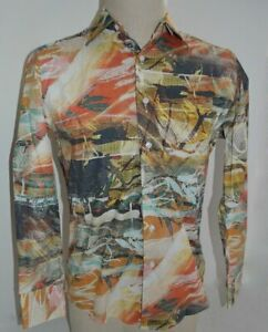 RISEN NEW Rare Graffiti Design 100% Cotton Shirt M