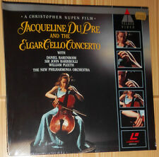 LASER DISC (VIDEO) JACQUELINE DU PRE ELGAR CELLO CONCERTO PAL VERSIEGELT SEALED