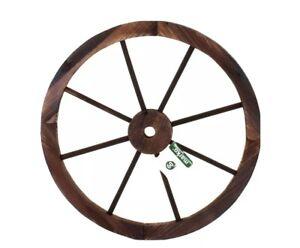 Ornamental Hand Crafted Wooden Garden Cart Wagon Wheel Wood Cartwheel 60cm