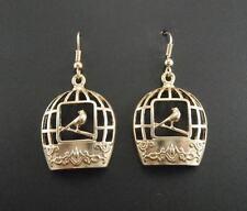 Rings`Ears Golden Candlestick Cage Bird Metal Lacework Retro CC10