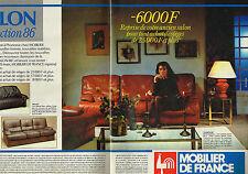PUBLICITE ADVERTISING 074  1986  MOBILIER DE FRANCE  ( 2 pages) collection SALON