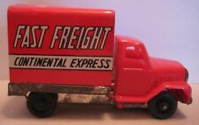Old Tin Plastic Frictn Toy Advertising Truck F F Continental Express Japan 1960s