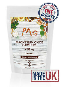 Magnesium Oxide 750mg Capsules ✔Made in UK