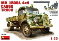 Miniart 1:35 Mercedes MB 1500A 4x4 Cargo Truck With German Figures Model Kit