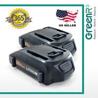 2pcs GreenR3 For Worx WX550L 20V 2.0Ah Lithium Rechargeable Battery Power Tools