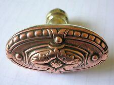 ancienne poignée cuivre laiton porte serrure chateau maison deco architecture FT