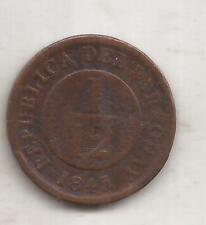 PARAGUAY MONEDA DE 1/12 DE REAL AÑO 1845 KM 1.1
