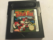 NINTENDO GAMEBOY COLOR GBC CARTRIDGE THE TITUS FOX / THE TIT'US FOX PAL