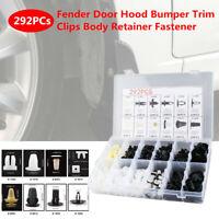 292PC Fender Door Panel Hood Bumper Trim Clips Body Retainer Fastener Assortment