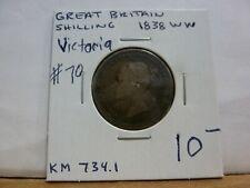 1838 Great Britain 1 Shilling KM# 734.1 - Silver - #70