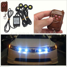 Car Emergency Hawkeye White LED Strobe Grille Lights Wireless Remote Control S17