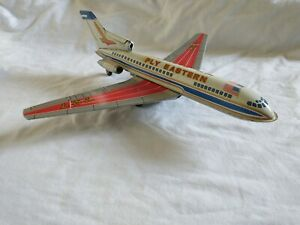 Vintage Tin Friction Toy Aeroplane - Fly-Eastern Air Lines, Boeing 727