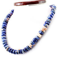 532.65 Cts Natural 20 Inches Long Blue Sodalite Untreated Round Beads Necklace