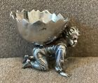Figural Kate Greenaway Boy SALT Dish Silver Plate   Meriden