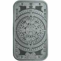 Aztec Calendar 1oz .999 Silver Minted Bullion Bar - Golden State Mint