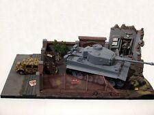 Diorama Gelände Gebäude Mauern Panzer Tiger Modell Dio WW2 Maßstab 1:16 1:18