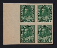 Canada Sc #128a (1924) 2c green Admiral Imperforate Block Mint VF NH