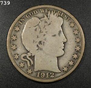 1912 Barber Half Dollar *Free S/H After 1st Item*