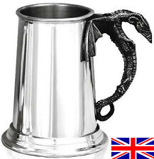 Dragon Handle One Pint Hand Made English Pewter Tankard with Free Engraving gr7