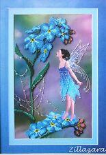 Fee Blume Stickpackung Stickbild Stickset Bild sticken mit Perlen 195