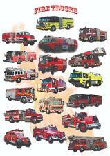 Wozy strażackie - dekoracyjny plakat A2 + plakat GRATIS + darmowa wysyłka!