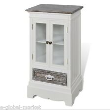 White Cabinet Doors Drawer Display Glass Cupboard Storage Shelves Small Hallway