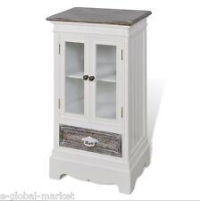 ARMADIO bianco ante cassetto Display Vetro Armadio Scaffali Piccolo Corridoio