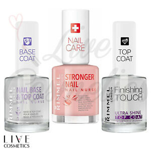 Rimmel Nail Polish TOP COAT / BASE COAT/ NAIL NURSE STRONGER NAILS, Transparent