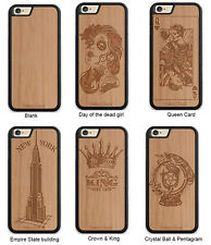 Wood phone case, Tatto designs, Queen Card, Empire state building, crown & king