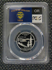 2005-S 25c Oregon SILVER State Flag Label Quarter Proof Coin PCGS PR70 DCAM