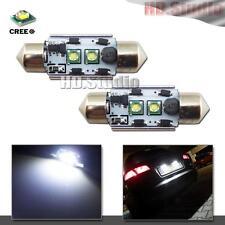 2pcs White 10W CAN-bus 36mm 6411 C5W CREE XP-E LED Bulbs For License Plate Light