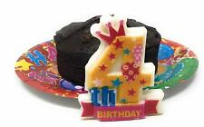 AEX 4th Birthday Candle Cake Topper Number 4 Party Decor Bday Decoration Candles