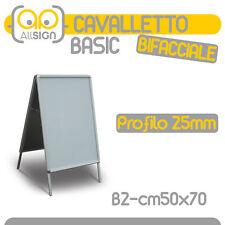 CAVALLETTO PUBBLICITARIO bifacciale espositore pubblicitari alluminio pavimento