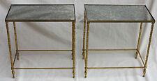 Paire de bouts de canapé rectangulaires Maison Bagués plateaux miroirs oxydés